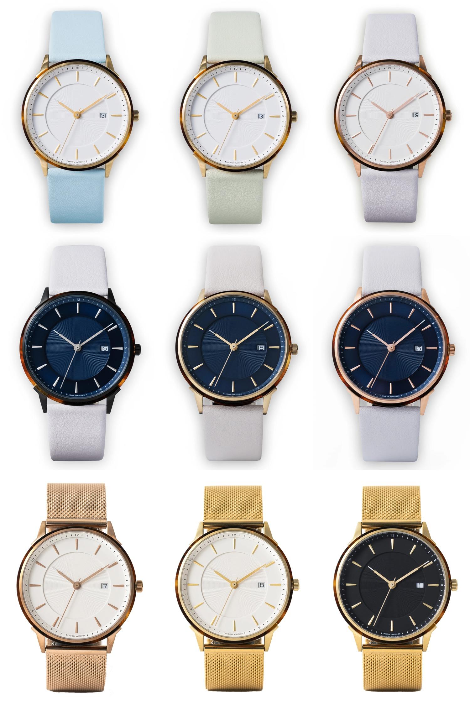Lagom Watches(ラーゴムウォッチ)BORJA カラーバリエーション メッシュ ストラップ