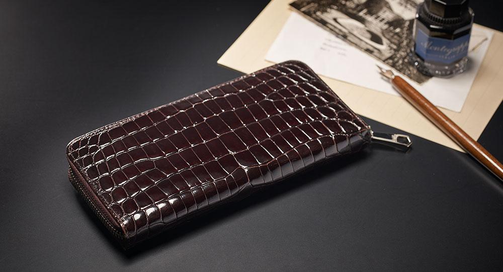 CYPRIS(キプリス)モルフォ Crocodile & Cirasagi Leather (クロコダイル×シラサギレザー)