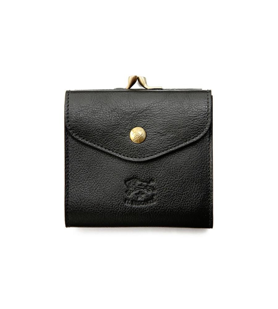 がま口付きWフェイス 二つ折り財布 イルビゾンテ コンパクトウォレット