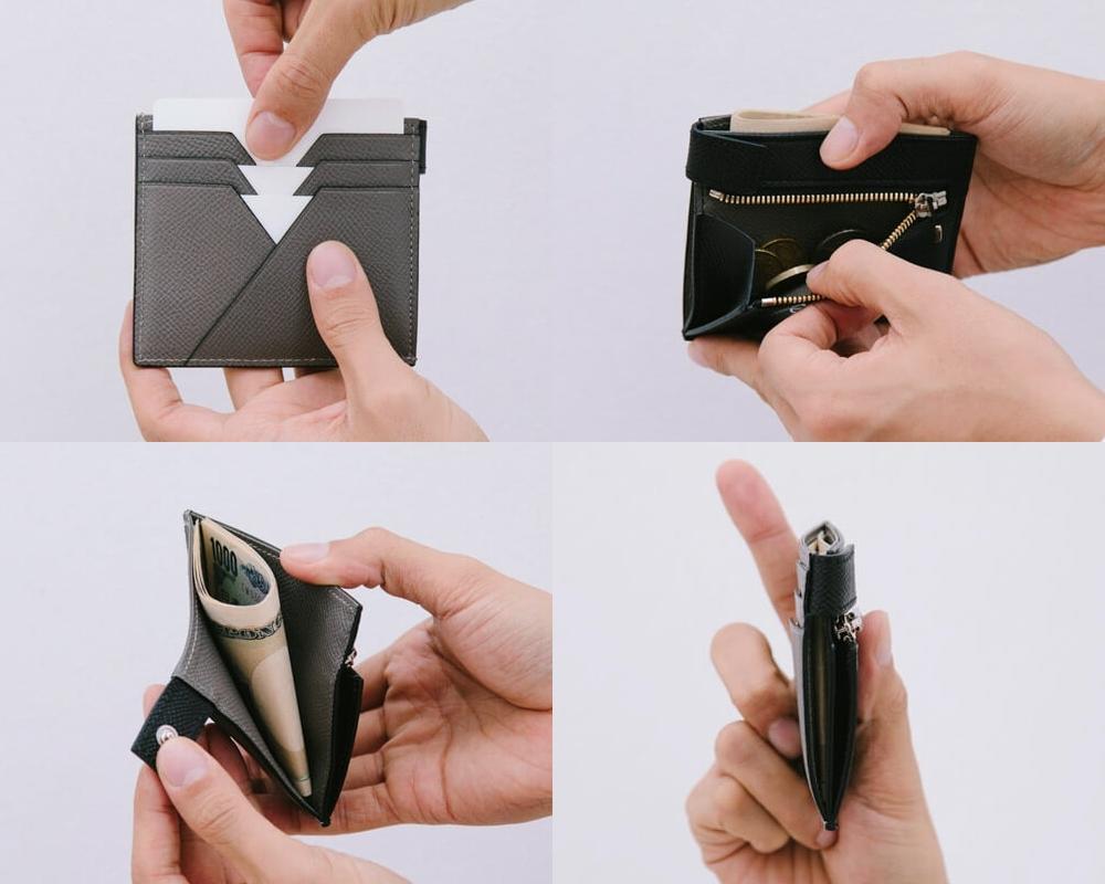 yuhaku ユハク ALBERTE ASB122 コンパクト二つ折り財布 使用イメージ