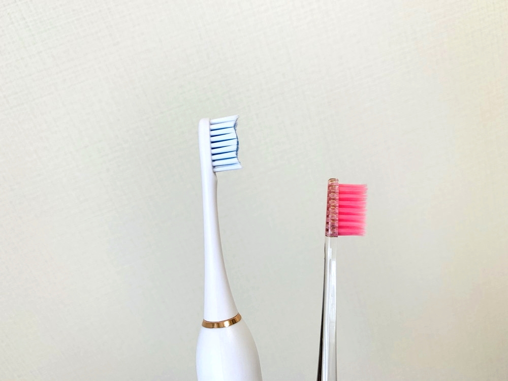 普通の歯ブラシと比較