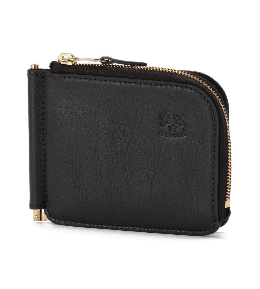 L字ファスナーマネークリップ 二つ折り財布 イルビゾンテ コンパクトウォレット