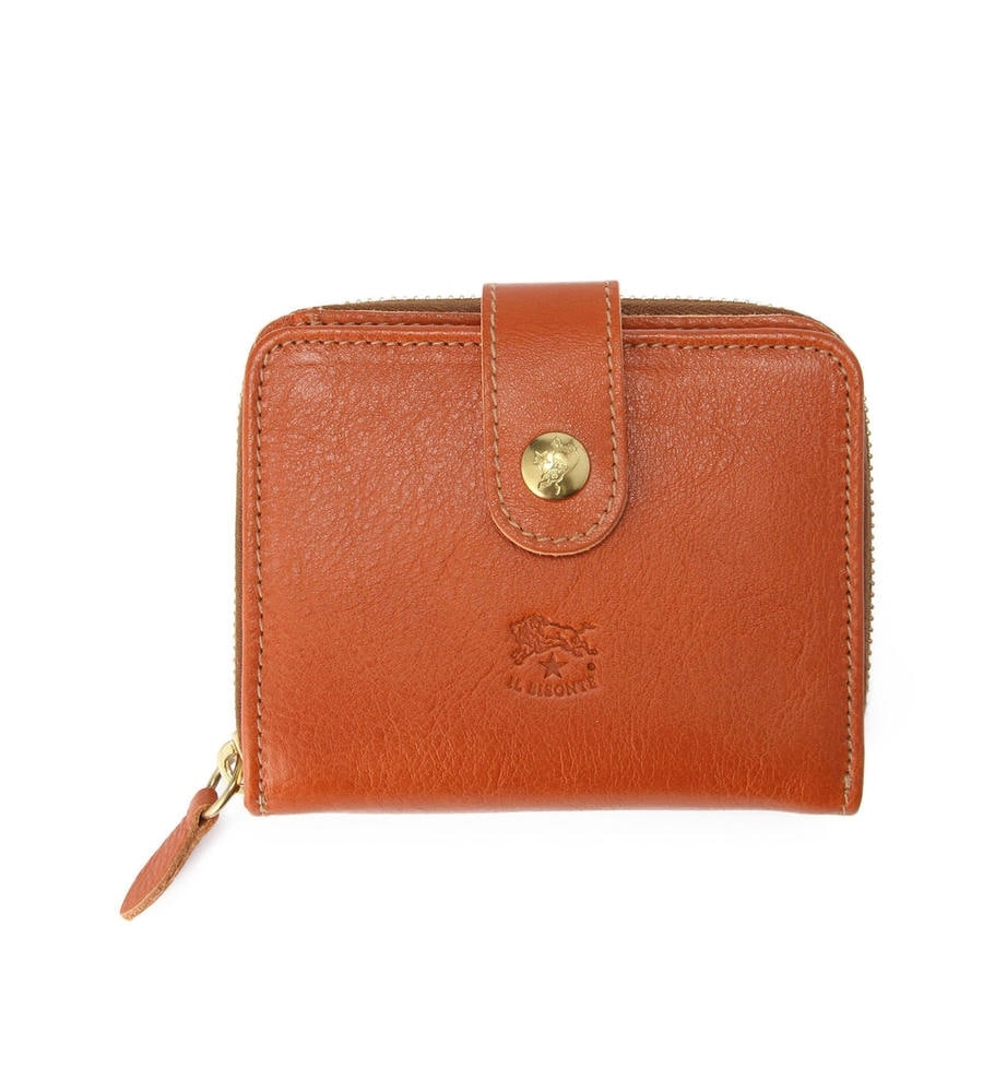 ラウンドファスナースナップ 二つ折り財布 イルビゾンテ コンパクトウォレット