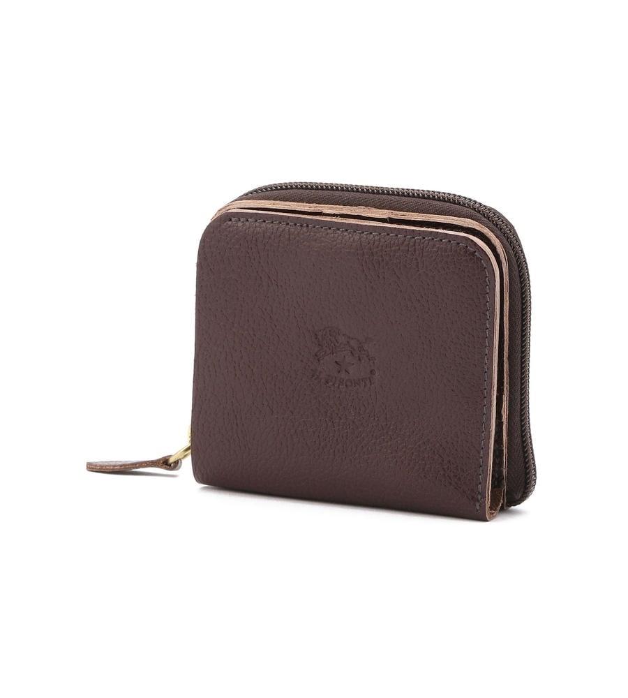 ラウンドファスナー付き 二つ折り財布 イルビゾンテ コンパクトウォレット