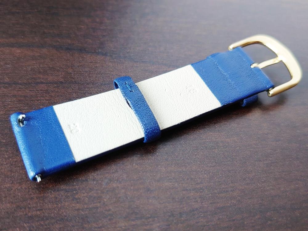Lagom Watches ラーゴムウォッチ BORJA(LIMITED EDITION)2020年夏至限定版 LW060 幅20mm:イタリアンレザーストラップ(ネイビー)裏1