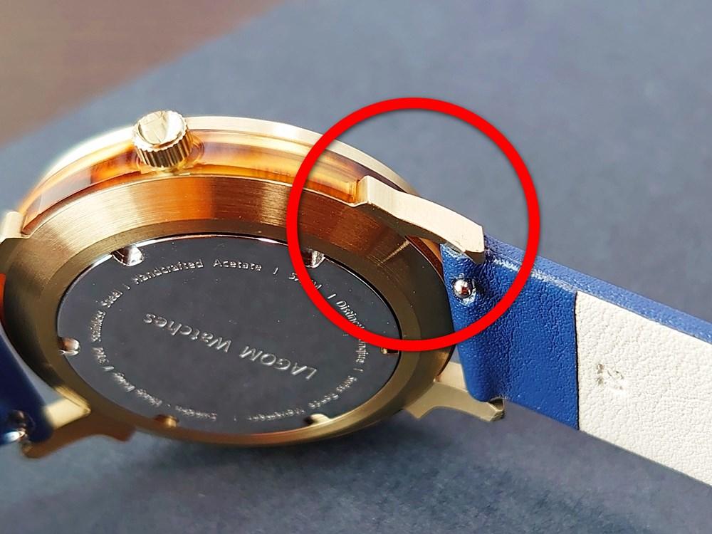 Lagom Watches ラーゴムウォッチ BORJA(LIMITED EDITION)2020年夏至限定版 LW060 バックル部分の加工精度 角ばり