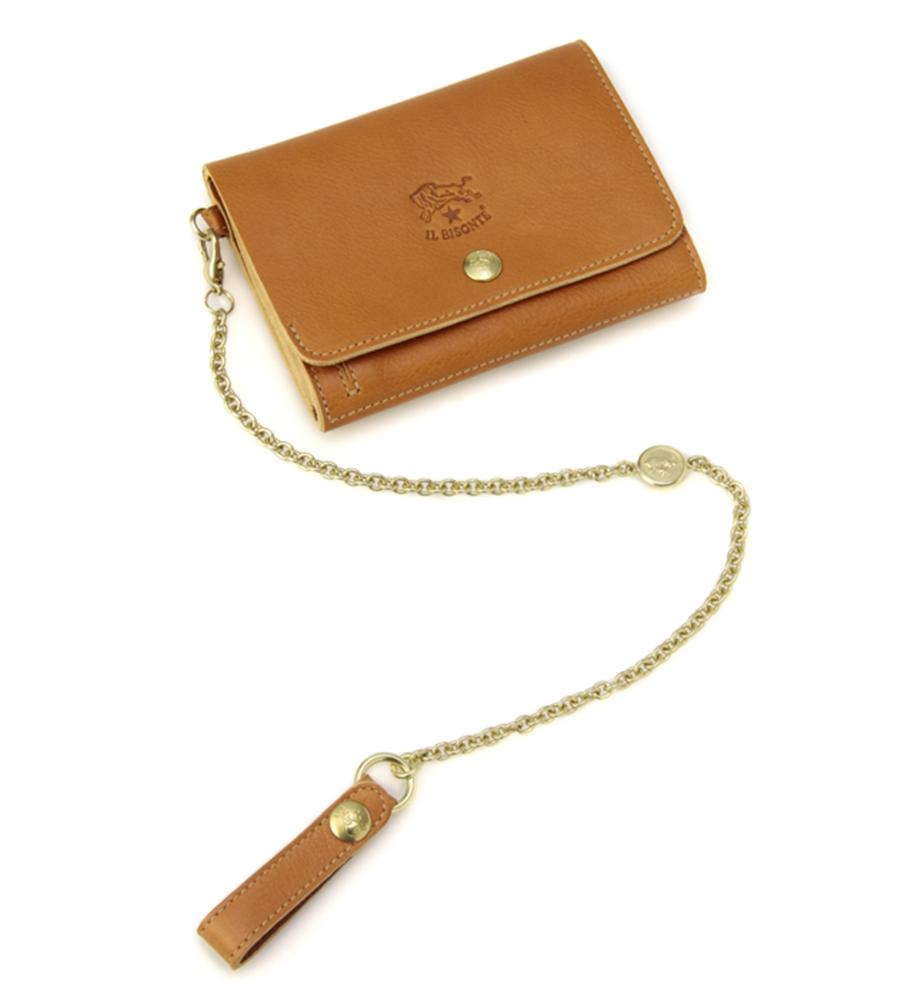 チェーンストラップ 二つ折り財布 イルビゾンテ コンパクトウォレット