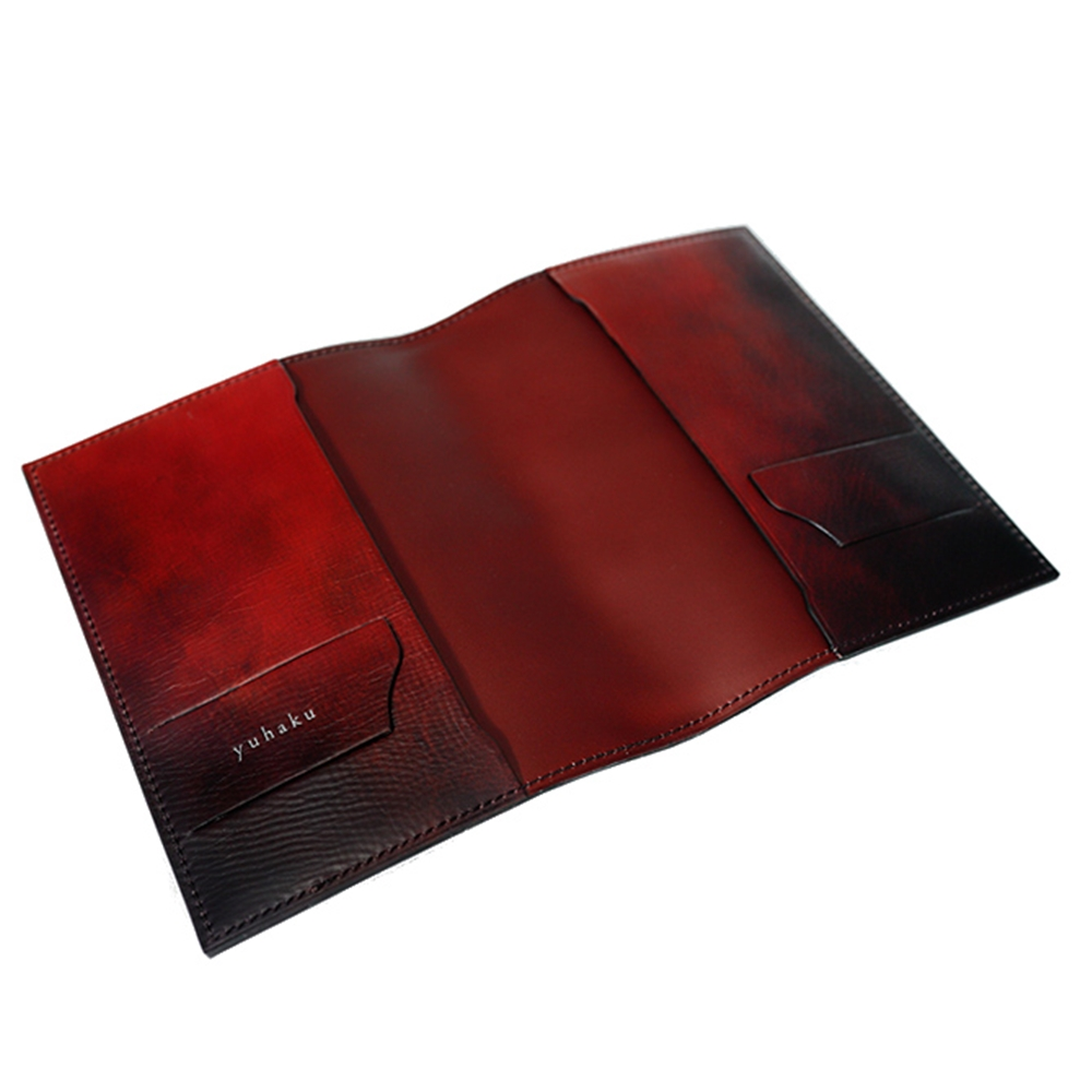 YVR240 手揉み加工 ブックカバー (文庫本サイズ) yuhaku ユハク