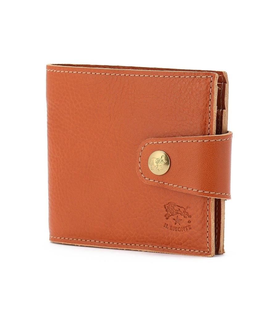 スナップボタン 二つ折り財布 イルビゾンテ コンパクトウォレット