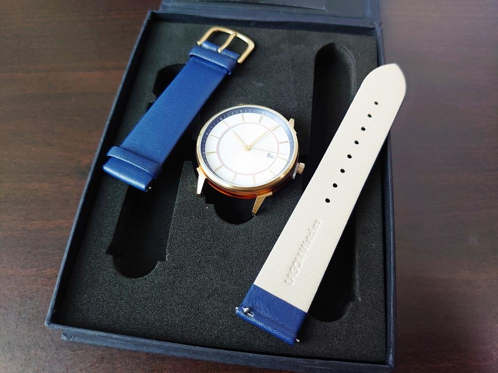 Lagom Watches ラーゴムウォッチ BORJA(LIMITED EDITION)2020年夏至限定版 LW060 時計とストラップ 取り出し