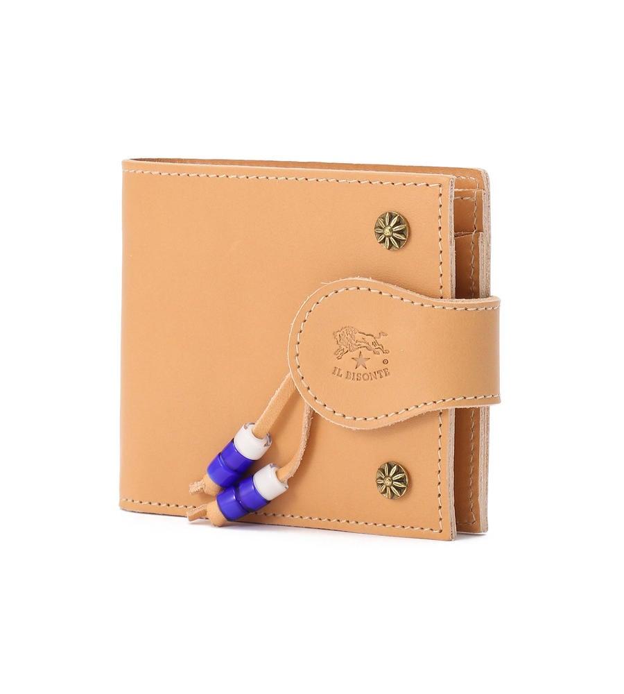 イルビゾンテ 2020年SSコレクション 真鍮スタッズ スナップボタン 二つ折り財布