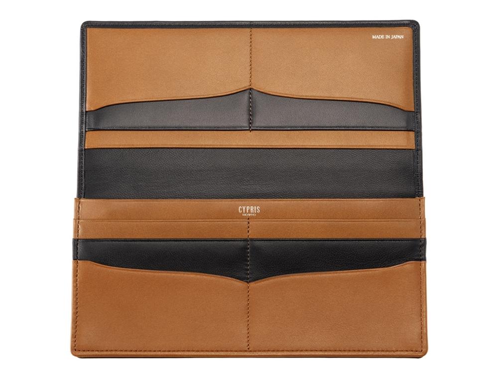 キプリス 長財布(小銭入れ付き通しマチ束入)テルヌーラ ブラック