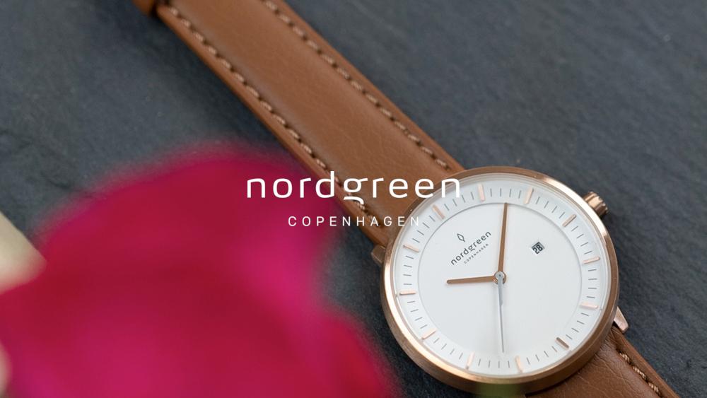 Nordgreen(ノードグリーン)Philosopher フィロソファ ローズゴールド ブラウンレザーストラップ