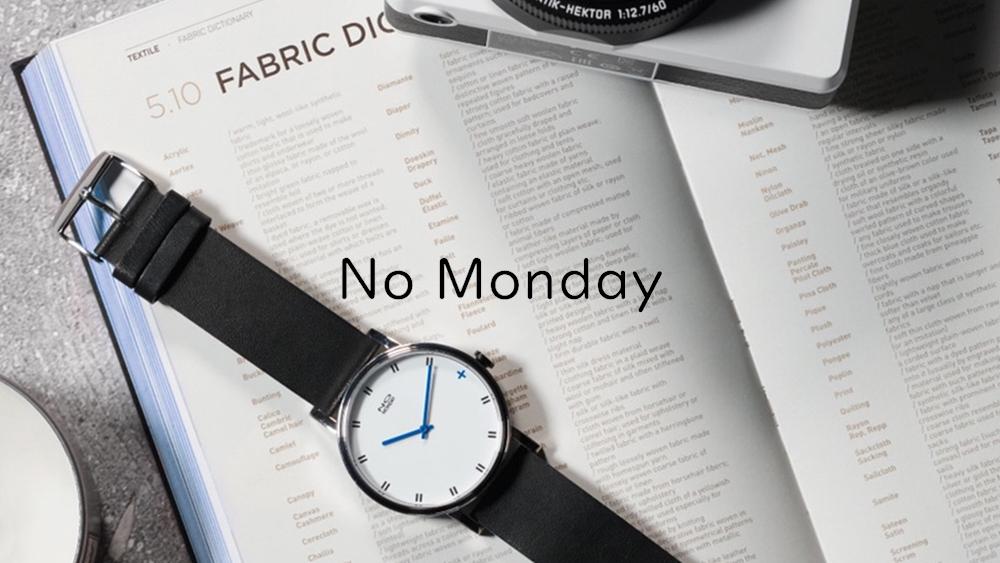 NO MONDAY ノーマンデー シンプル腕時計
