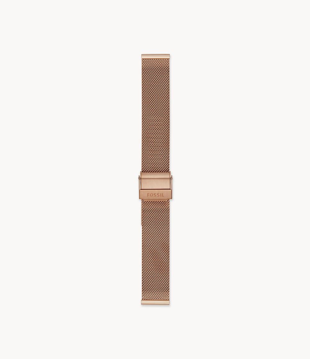 16 mmローズゴールドトーンスチールメッシュブレスレット S161057_main FOSSIL フォッシル