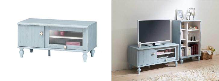 フレンチブルーテレビボード-horz
