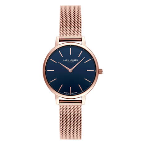 CAROLINE (LW46) Rose gold bracelet Deep ocean blue dial LLARSEN(エルラーセン)