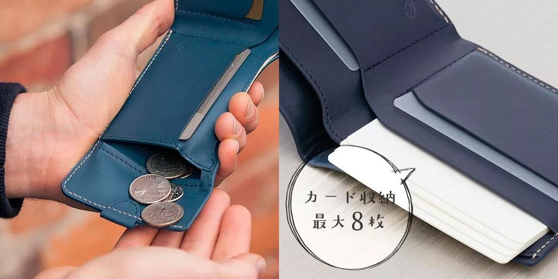 Bellroy Coin Fold Wallet ベルロイコインフォルドウォレット 使用イメージ