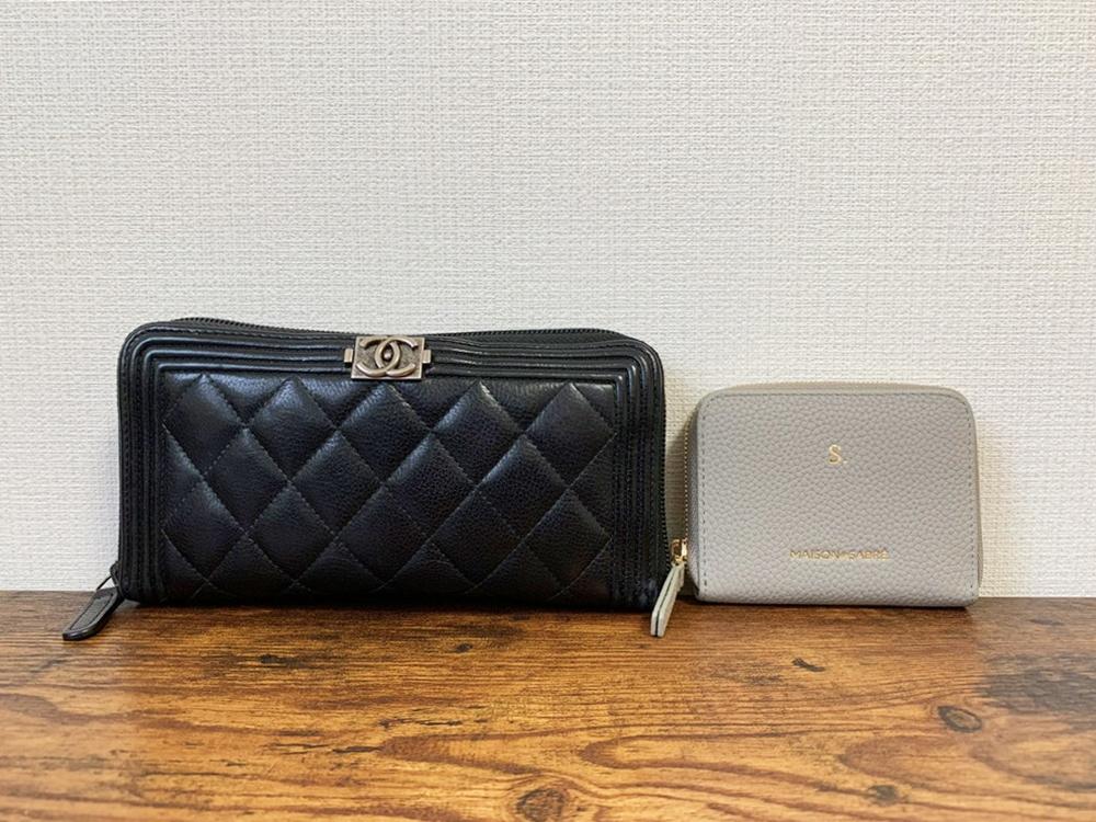 ジップウォレット 長財布と比較