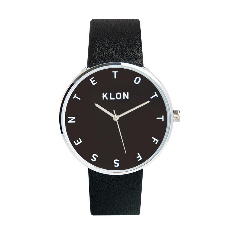 KLON ALPHABET TIME BLACK 【BLACK SURFACE】 40mm