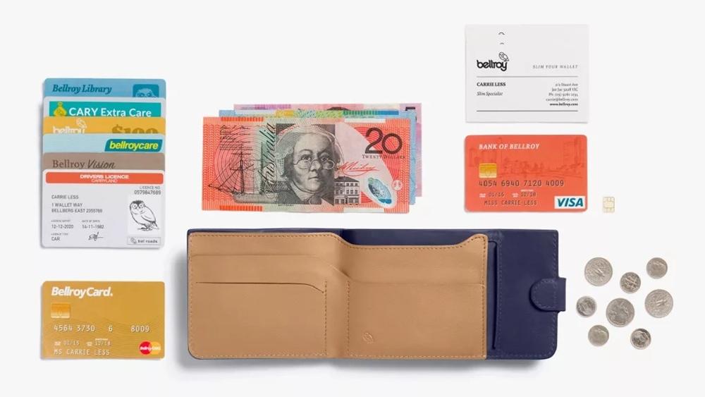Bellroy Coin Fold Wallet ベルロイコインフォルドウォレット 収納力
