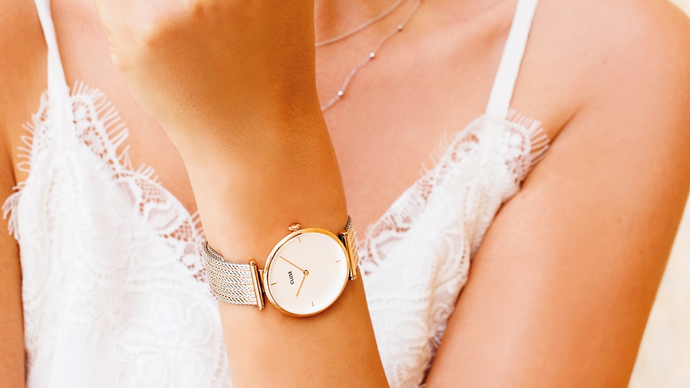 CLUSE(クルース)腕時計 トリオンフ 着用