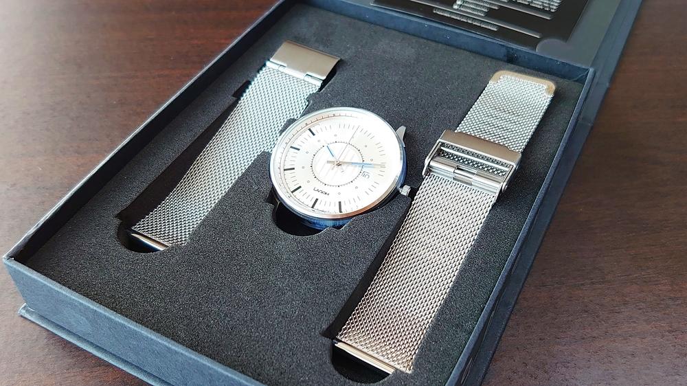 Lagom Watches(ラーゴムウォッチ)SJO【LW054】シルバー シルバーメッシュ 時計本体 ストラップ セパレート