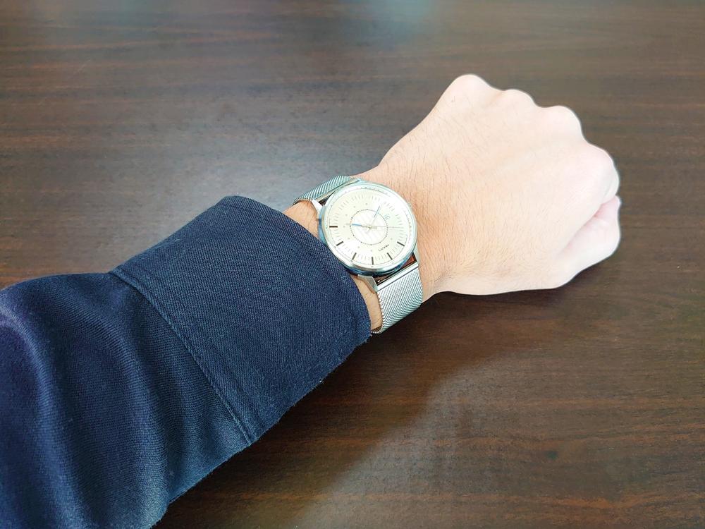 Lagom Watches ラーゴムウォッチ SJOシリーズ【LW054】 シルバーメッシュ 着用1