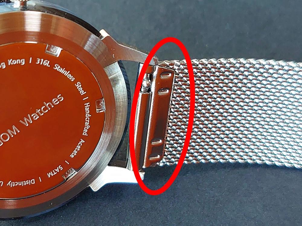 Lagom Watches(ラーゴムウォッチ)SJO【LW054】シルバー シルバーメッシュ 改善点 ストラップ継ぎ目
