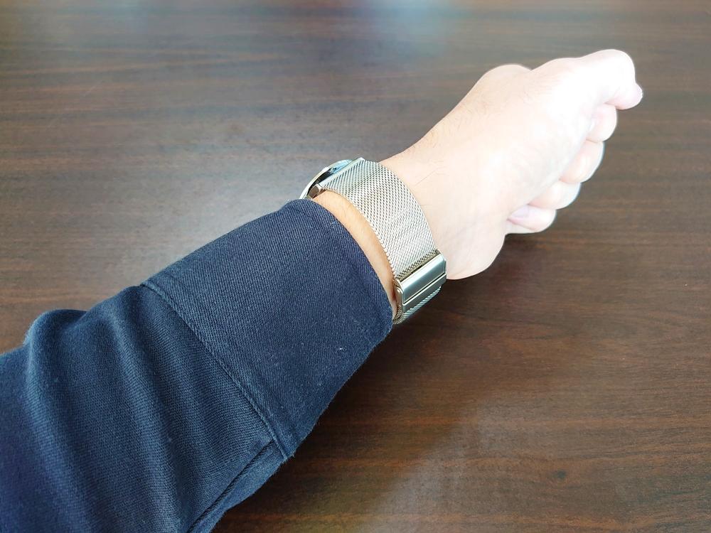 Lagom Watches ラーゴムウォッチ SJOシリーズ【LW054】 シルバーメッシュ 着用3