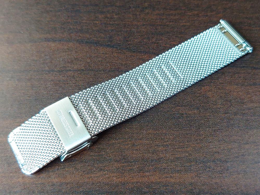 Lagom Watches(ラーゴムウォッチ)SJO【LW054】シルバー シルバーメッシュ ストラップ裏側のくぼみ