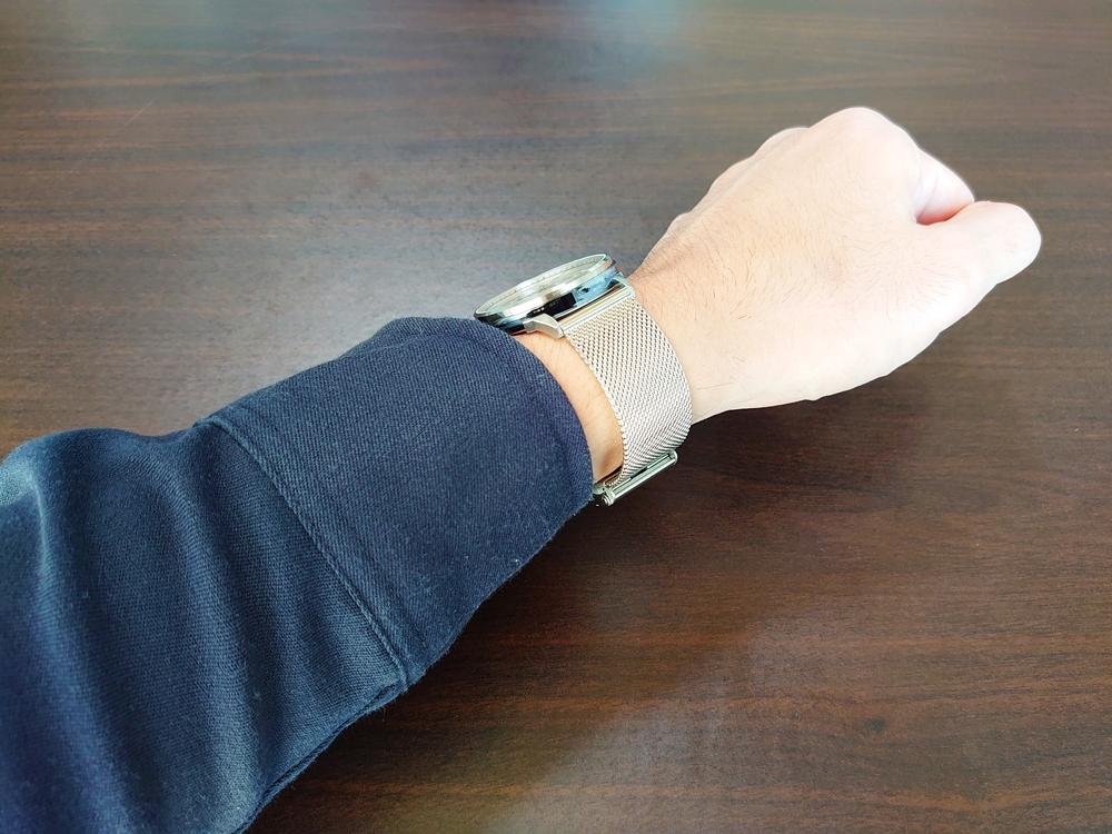 Lagom Watches ラーゴムウォッチ SJOシリーズ【LW054】 シルバーメッシュ 着用2