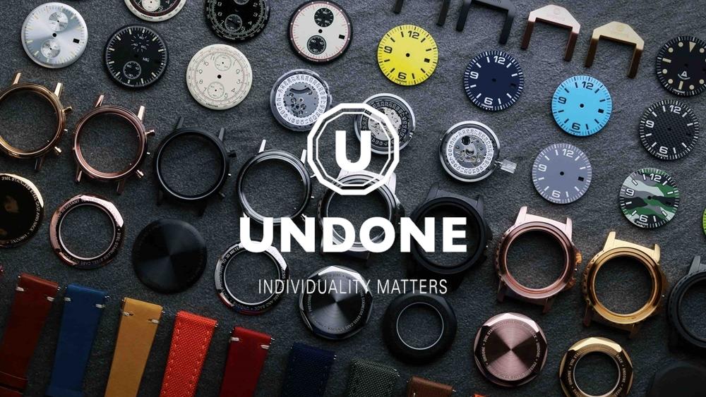 UNDONEアンダーン カスタマイズ腕時計 メッセージ刻印