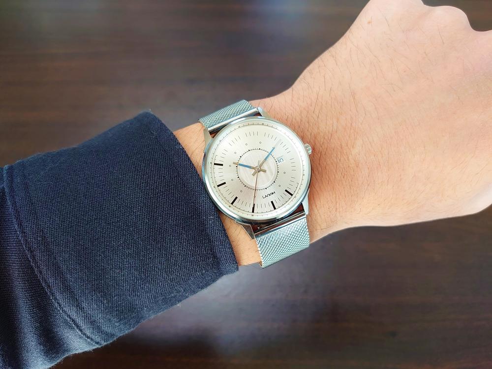 Lagom Watches ラーゴムウォッチ SJOシリーズ【LW054】 シルバーメッシュ 着用6