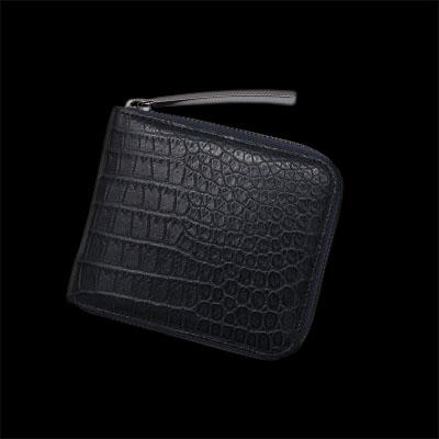 S2419.F 二つ折りファスナー財布 池田工芸 クロコダイル 財布