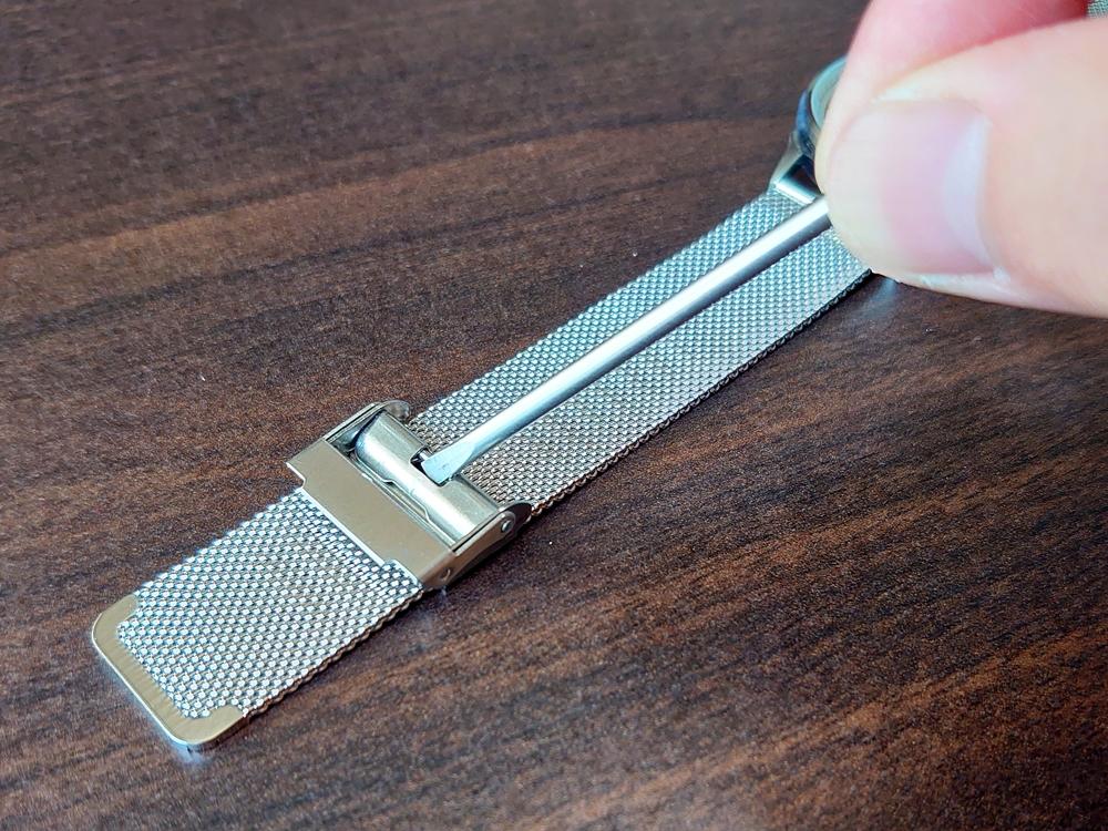 Lagom Watches(ラーゴムウォッチ)SJO【LW054】シルバー シルバーメッシュ ストラップ 長さ調整
