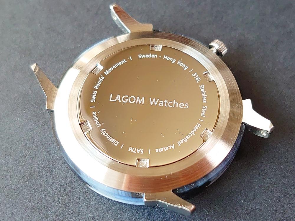 Lagom Watches(ラーゴムウォッチ)SJO【LW054】シルバー シルバーメッシュ バックケース