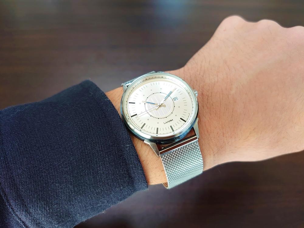 Lagom Watches ラーゴムウォッチ SJOシリーズ【LW054】 シルバーメッシュ 着用7