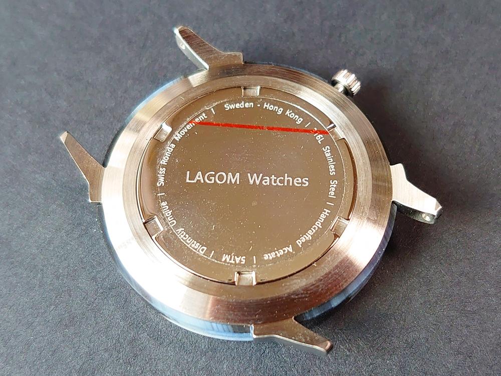 Lagom Watches(ラーゴムウォッチ)SJO【LW054】シルバー シルバーメッシュ バックケース 保護シール