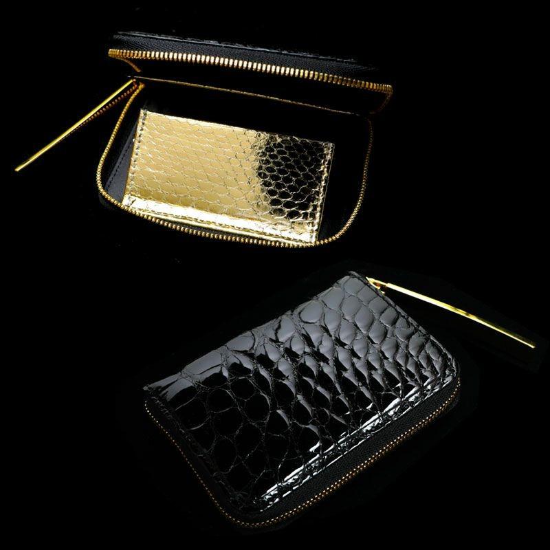 池田工芸 Crocodile Multi Wallet (クロコダイル マルチウォレット)(ゴールドパイソンモデル)