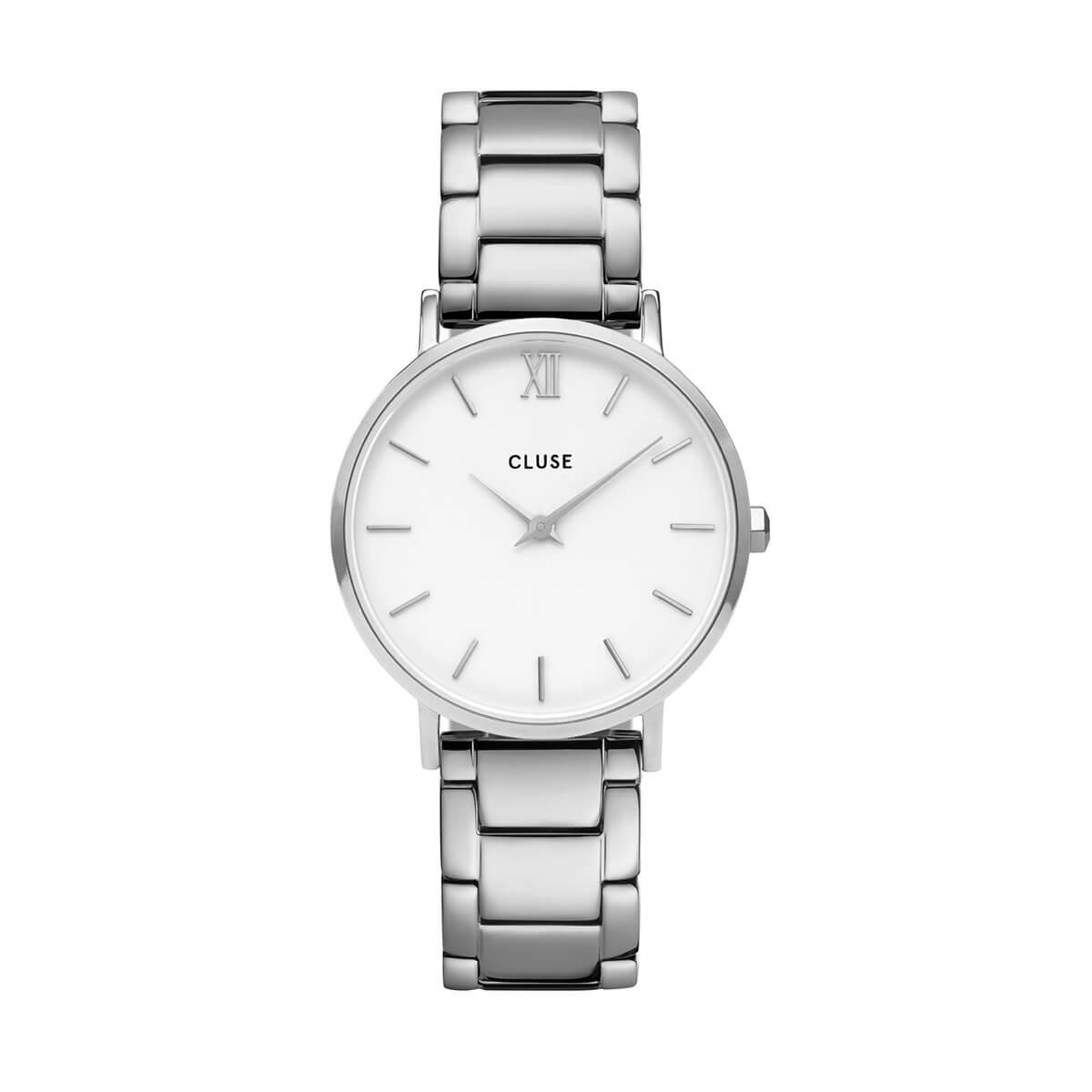 愛花 着用 33mm - CW0101203026 ミニュイ 3リンク シルバー ホワイト シルバー CLUSE クルース 腕時計