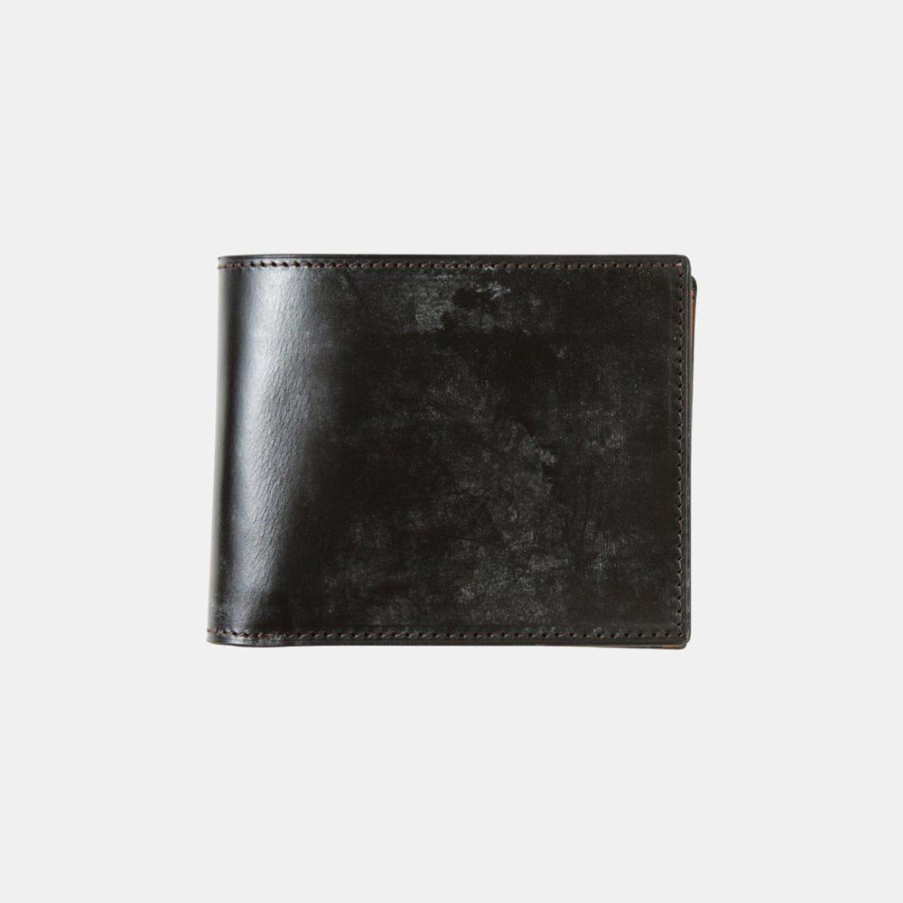 BRIDLE LEATHER ブライドルレザー 二つ折り財布(ブラック)crafsto(クラフスト)