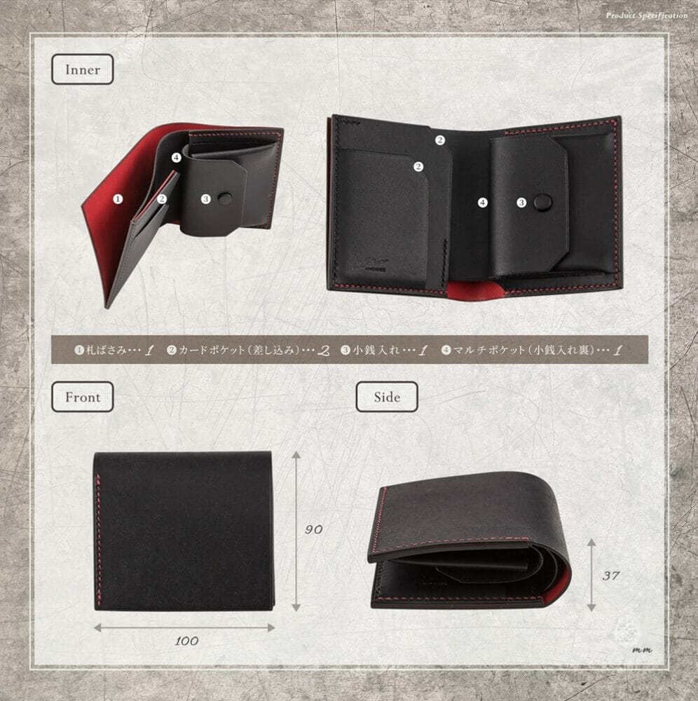 LUTECE プエブロ コンパクト財布 寸法 Mens Leather Store メンズレザーストア