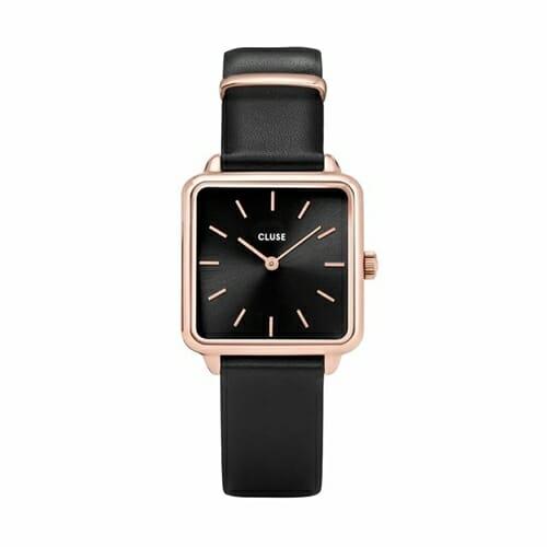 ラ・テトラゴン ローズゴールド ブラック ブラック 28.5mm - CW0101207011 CLUSE クルース レディース腕時計