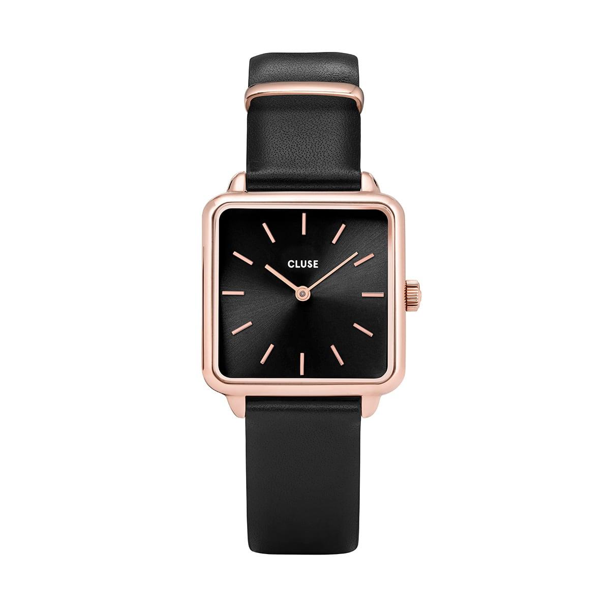 馬場ふみか 着用 28.5mm - CW0101207011 ラ・テトラゴン ローズゴールド ブラック ブラック CLUSE クルース 腕時計