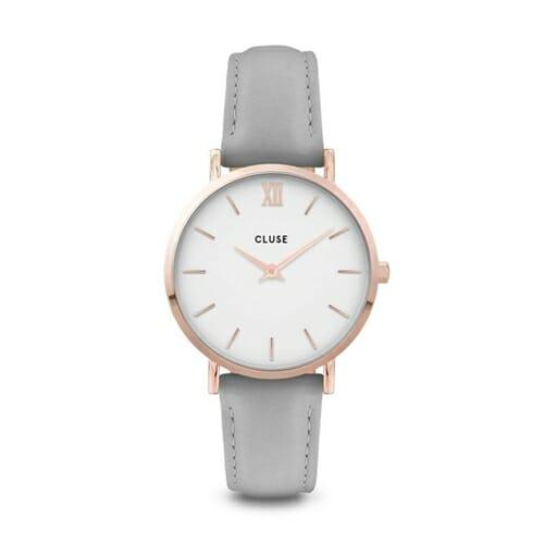 ミニュイ ローズゴールド ホワイト グレー 33mm - CW0101203010 CLUSE クルース レディース腕時計