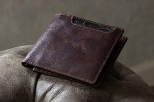 Baggart(バガート)ラセッテー鞣しピッグスキン × クロコダイル 二つ折り財布