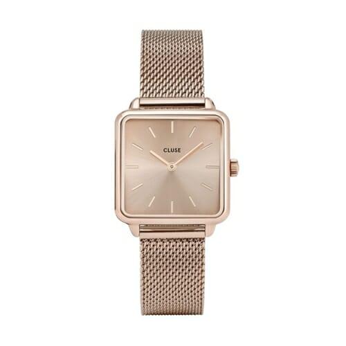 ラ・テトラゴン メッシュ ローズゴールドソフトローズゴールド ローズゴールド 28.5mm - CW0101207009 CLUSE クルース レディース腕時計