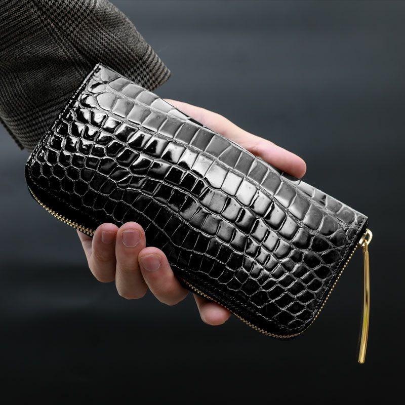 池田工芸 Crocodile Smart Long Wallet クロコダイル スマートロングウォレットW
