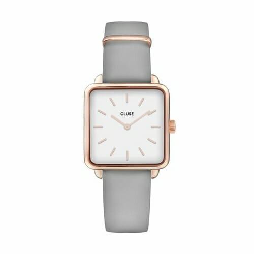 ラ・テトラゴン ローズゴールド ホワイト グレー 28.5mm - CW0101207004 CLUSE クルース レディース腕時計